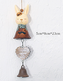 Fashion Yellow+brown Cartoon Rabbit Decorated Wind Chimes