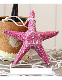 Fashion Plum Red Starfish Shape Decorated Hook Ornaments(middle)