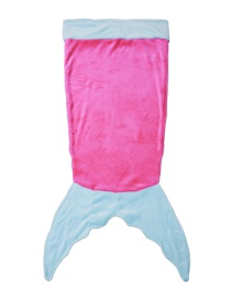 Trendy Pink+blue Mermaid Tail Design Double Layer Children Sleeping Bags