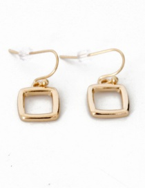 Fashion Gold Color Square Shape Decorated Pure Color Earrings