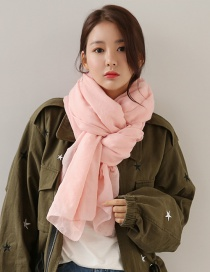 Fashion Light Pink Pure Color Decorated Dual-use Scarf