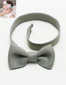 Lovely Gray Bowknot Decorated Pure Color Hair Band