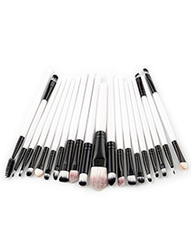 Fashion White Pure Color Decorated Makeup Brush ( 20 Pcs )