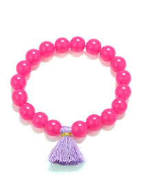 Fashion Plum Red Tassel Decorated Bracelet