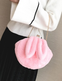 Lovely Pink Rabbit Ear Shape Decorated Shoulder Bag