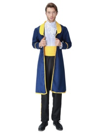 Fashion Yellow+blue Pure Color Decorated Cosplay Costume(without  shoes)
