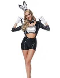 Fashion Black Rabbit Shape Decorated Cosplay Costume(without shoes)