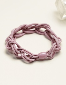 Fashion Pink Pure Color Decorated Hair Band