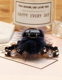 Lovely Blue Fuzzy Ball Decorated Hair Clip
