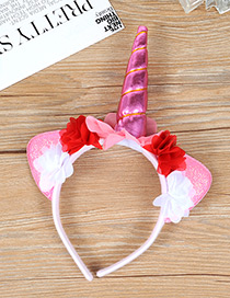Trendy Pink Unicorn Shape Decorated Hair Hoop