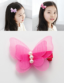 Lovely Plum Red Butterfly Shape Decorated Hairpin