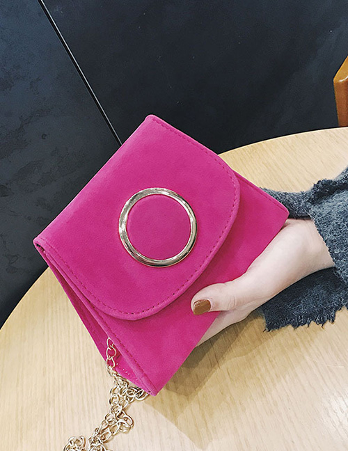 Trendy Pink Circular Ring Decorated Mini Shoulder Bag