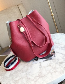 Fashion Red Tassel Shape Decorated Bag (3pcs)