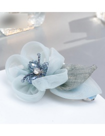 Fashion Blue Flower Shape Decorated Simple Hairpin