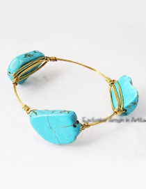 Vintage Light Blue Irregular Shape Decorated Bracelet