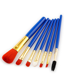 Fashion Red Color-matching Decorated Brushes (7pcs)