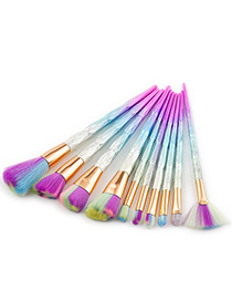 Fashion Multi-color Color-matching Decorated Brushes (10pcs)