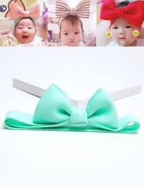 Lovely Light Green Bowknot Shape Decorated Baby Hair Band