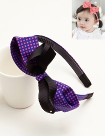 Cute Purple Bowknot Shape Decorated Hair Clip