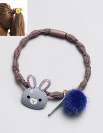 Cute Gray Rabbit Shape Decorated Hair Band