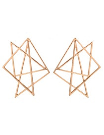 Personality Gold Color Hollow Out Decorated Earrings Reviews