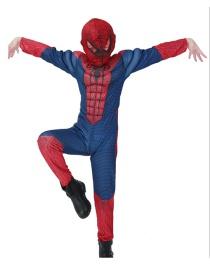 Fashion Dark Blue Spiderman Decorated Costume