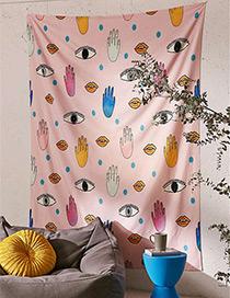 Fashion Pink Eyes&hand Pattern Decorated Blanket