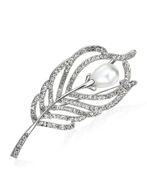 Elegant Silver Color Hollow Out Decorated Brooch