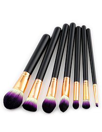 Fashion Black Color-macthing Decorated Brushes