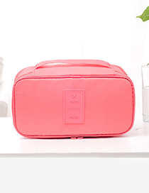 Fashion Pink Pure Color Decorated Storage Bag