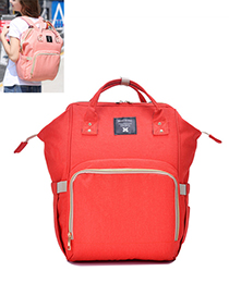 Fashion Orange Pure Color Decorated Backpack