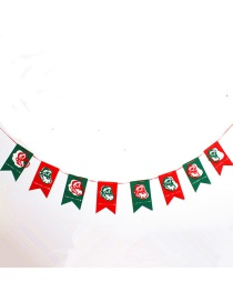 Fashion Red+green Santa Claus Decorated Christmas Ornaments(8pcs)