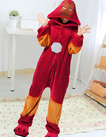 Fashion Red Color Matching Decorated Pajamas