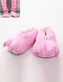 Fashion Pink Pure Color Decorated Shoes