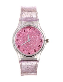 Fashion Pink Sequins Decorated Watch