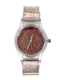 Fashion Khaki Sequins Decorated Watch