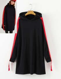 Fashion Black Ribbon Decorated  Long Sleeves hoodie