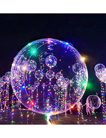 Trendy Multi-color Ball Shape Design Transparent Led Light Balloon(without Battery)