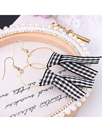 Fashion Black Color-matching Decorated Earrings