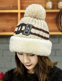 Trendy Beige Letter 10 Pattern Decorated Cap