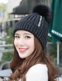 Fashion Black The Letter Patch Decorated Cap