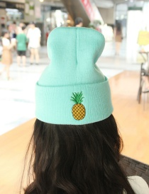 Lovely Blue Pineapple Shape Decorated Cap