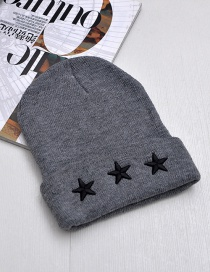 Fashion Gray Star Shape Decorated Cap