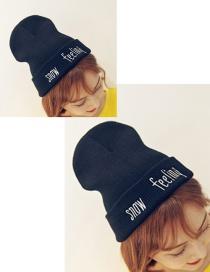 Fashion Black Letter Decorated Cap