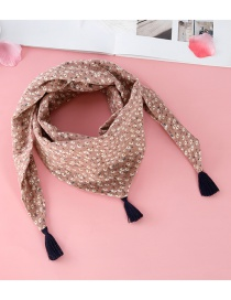 Fashion Pink Tassel Decorated Scarf
