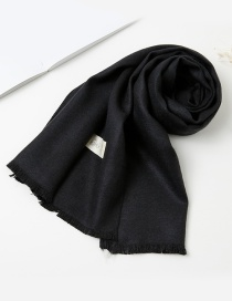 Fashion Black Pure Color Decorated Baby Scarf
