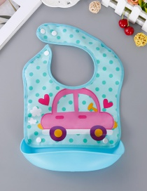 Fashion Blue Car Pattern Decorated Bib