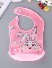 Fashion Pink Elves Pattern Decorated Bib