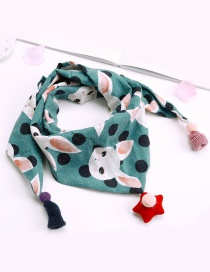 Fashion Dark green Rabbit Pattern Decorated Scarf