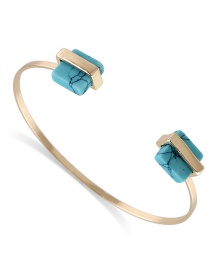 Fashion Blue Square Shape Decorated Bracelet